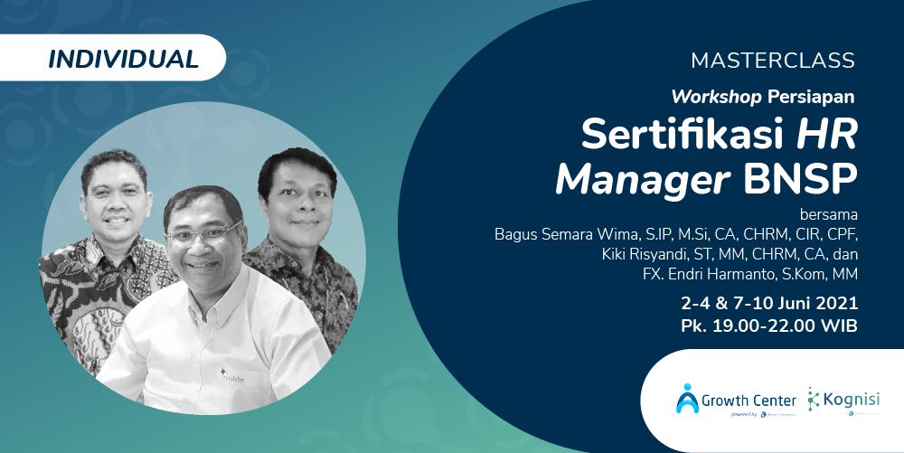 Gambar event [BATCH 2] Workshop Persiapan Sertifikasi HR Manager BNSP (Individual) dari Kognisi Kompas Gramedia