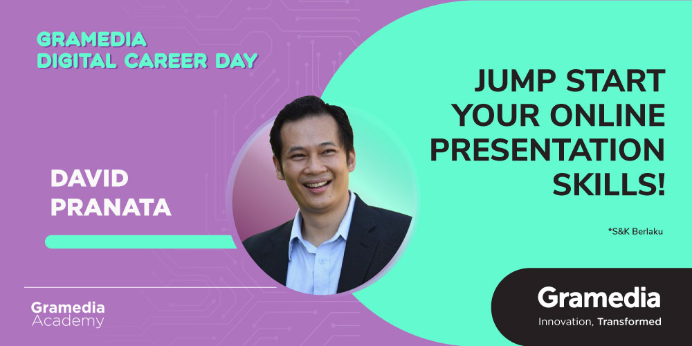 Gambar event Jump Start Your Online Presentation Skills! with David Pranata dari Gramedia Academy