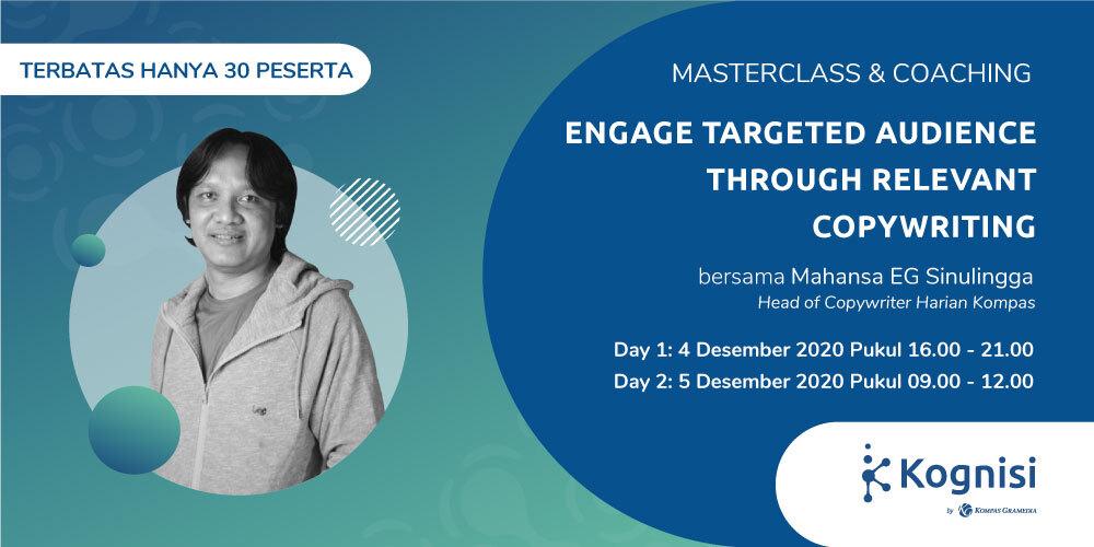Gambar event Engage Targeted Audience through Relevant Copywriting dari Kognisi Kompas Gramedia